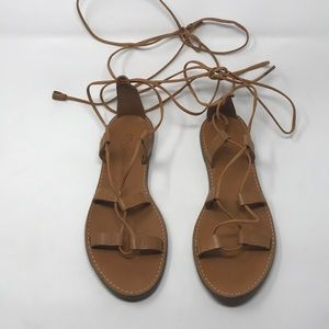 940529d86295 Madewell Shoes - MADEWELL  Outstock  Desert Camel Lace Up Sandals